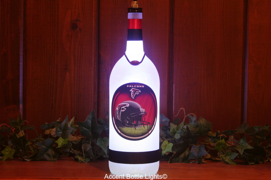 Atlanta Falcons Football Bottle Lamp