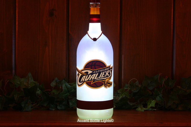 Cleveland Cavaliers Man Cave Basketball Bottle Lamp