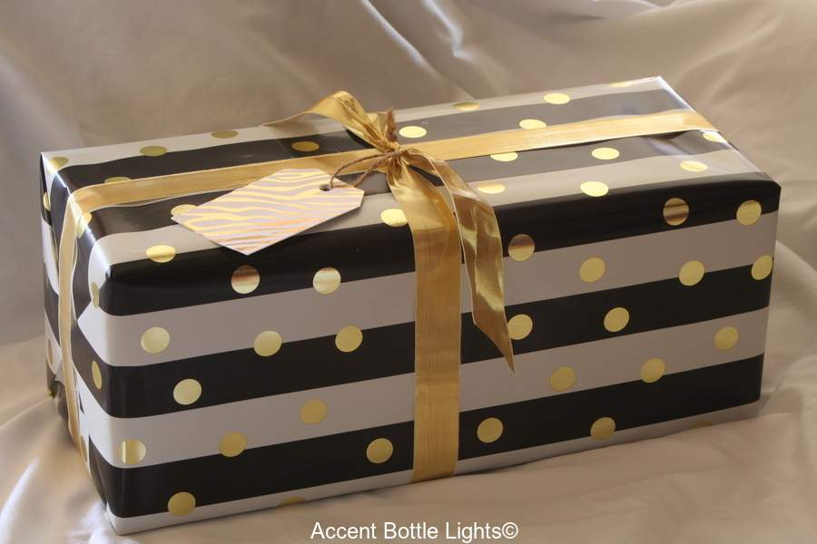 Gift Wrapped Present for Accent Bottle Lights Customers
