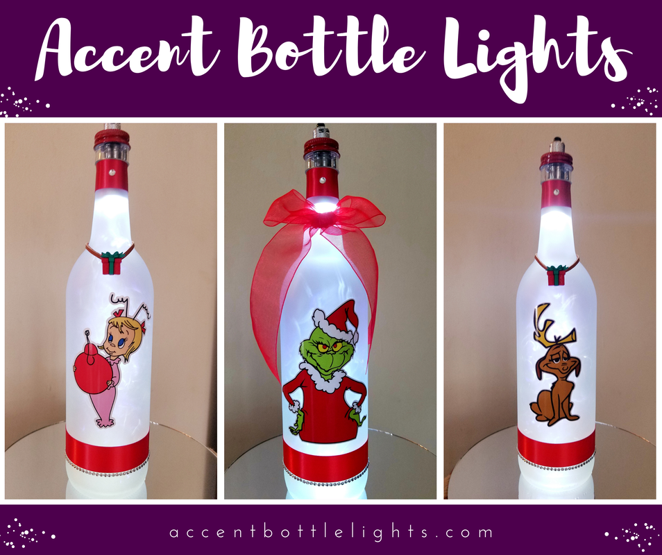 Sports Teams, Grinch, Patriot and themed Bottle Light lamps for sale