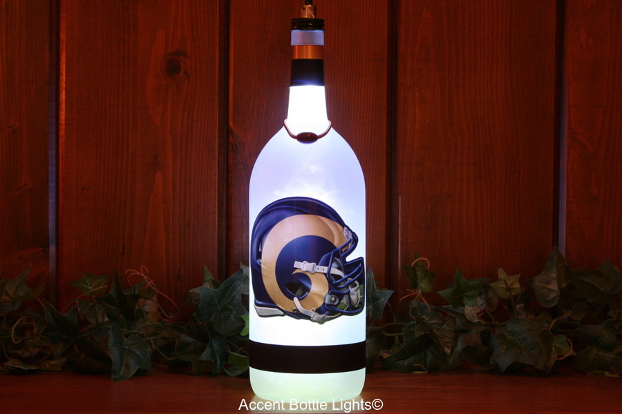 Los Angeles Rams Man Cave Football Bottle Lamp