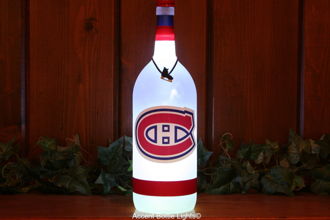 Montreal Canadiens Man Cave Hockey Bottle Lamp