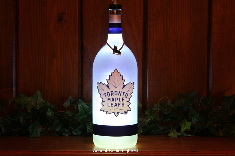 Toronto Maple Leafs Man Cave Hockey Bottle Lamp